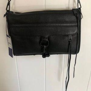 NWT Rebecca Minkoff  MAC BLACK Leather Bag.